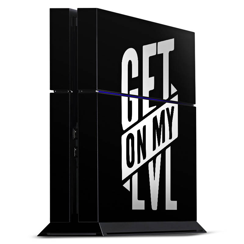 getonmylevel black f r folien f r spielekonsolen gl nzend f r sony playstation 4 von deindesign. Black Bedroom Furniture Sets. Home Design Ideas