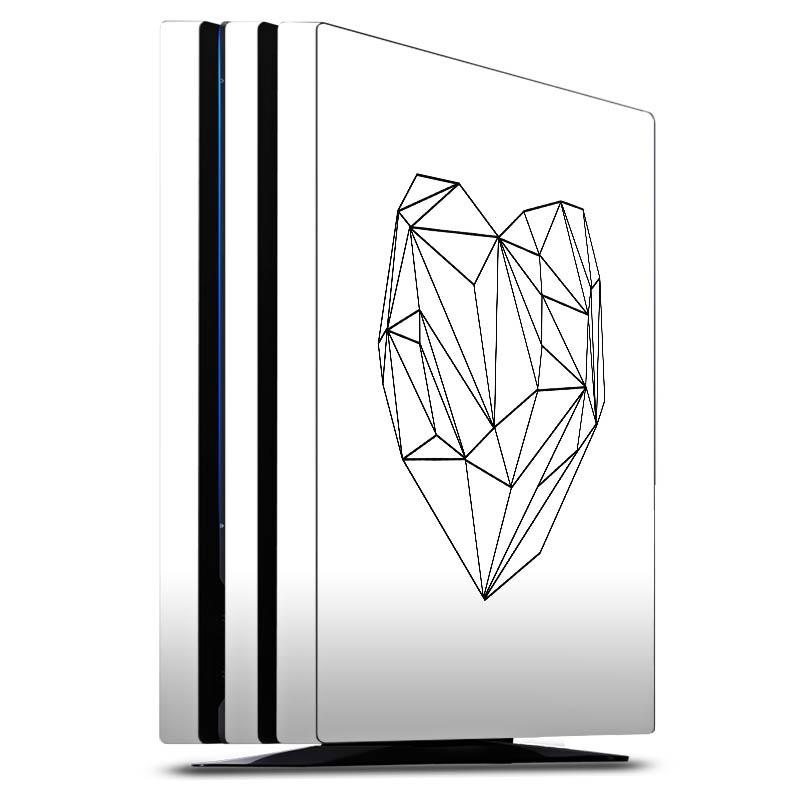 Heart graphic white für Folien für Spielekonsolen (glänzend