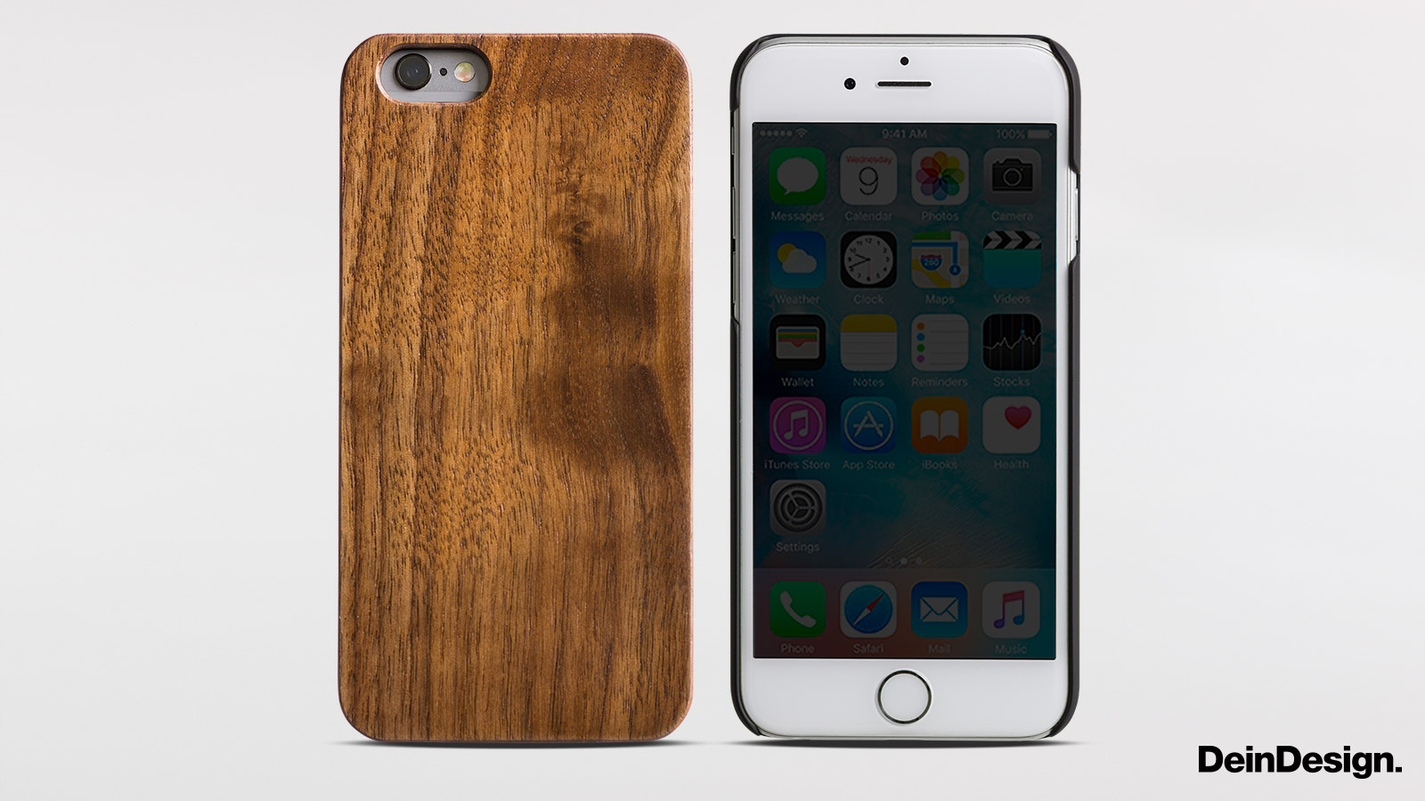holz hard case pure walnuss f r apple iphone se von deindesign. Black Bedroom Furniture Sets. Home Design Ideas