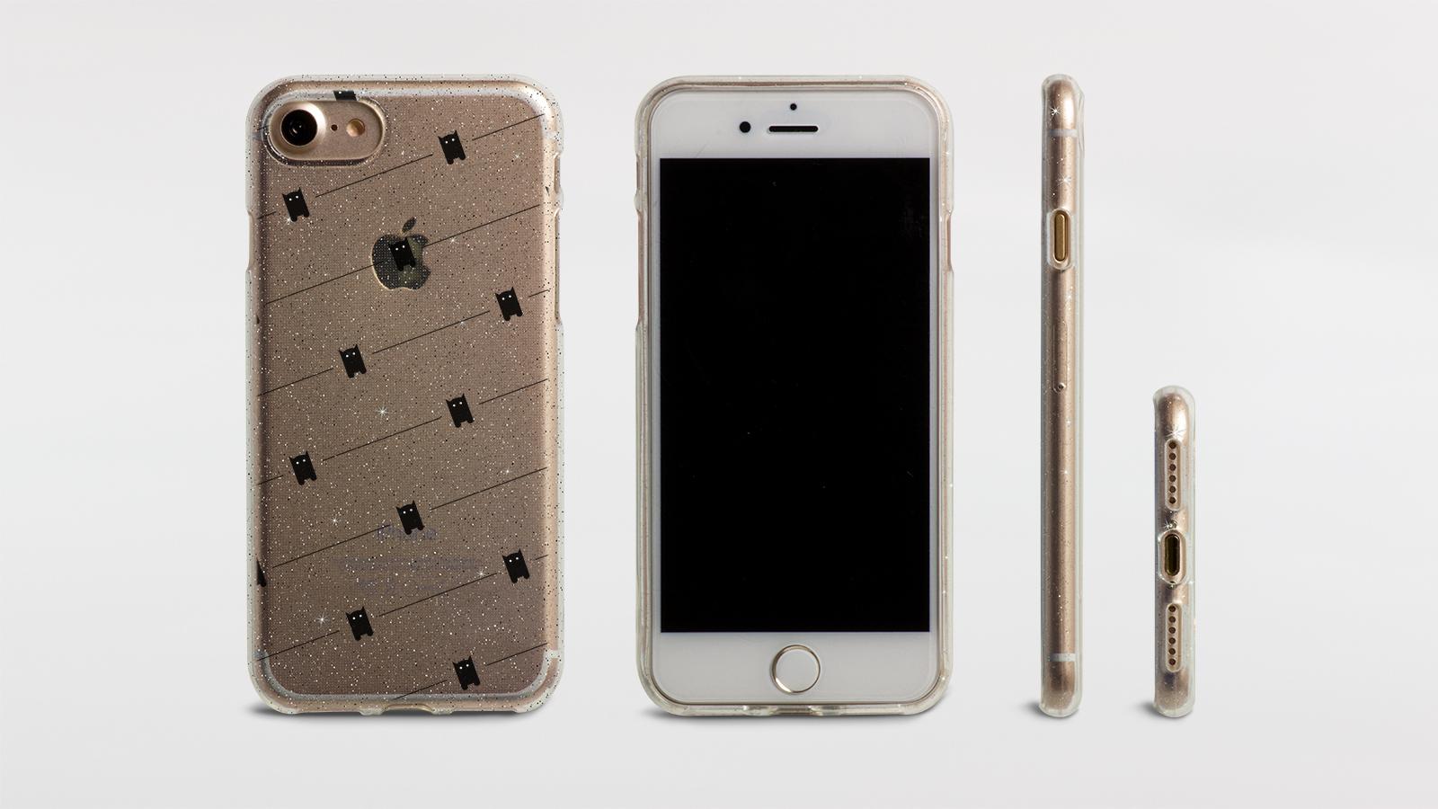 Silikon Glitter Case transparent-silber
